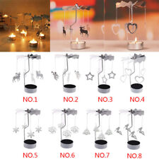Spinning Metal Carousel Tea Light Candle Holder Stand Rotary Light Mom's Gift