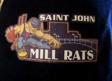 Saint John Mill Rats baseball cap basketball logo hat Nblc Canada rare Aba