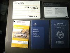 2007 TOYOTA CAMRY OWNERS MANUAL with WARRANTY, MAINTENANCE GUIDE, CASE, + More