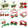 Christmas Dog Cat Pet Puppy Bow knot Necktie Collar Bow Tie Clothes Cute TOYS