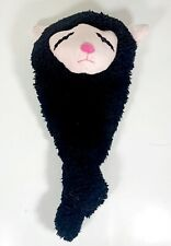 """Squeaky Dog Toy 17"""" x 9"""" x 6"""" - Black/Pink"""