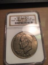 1978 PCGS MS64 7% Off Center Ike Dollar Mint Error; Nice Error Type Coin !!!!!
