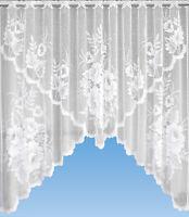Scheibengardine Bistrogardine Jacquard Bogen Küchengardine weiß Panneaux 2335
