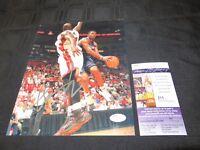 JOE JOHNSON ATLANTA HAWKS NBA SIGNED 8X10 PHOTO W/JSA COA T42607 FREE S&H