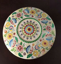 Beautiful Vintage Decorative Floral Embossed Tin with Dome Lid Made in Holland