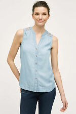 NWT ANTHROPOLOGIE Chambray Scoop By holding horse SZ 6 10 NEWtop
