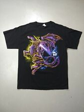 Dragon T-shirt fantasy fire breathing size large mythical creature monster tee