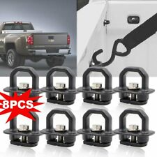 8X Tie Down Anchor Truck Bed Side Wall Anchors For Chevy Silverado GMC Sierra