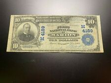 New listing Marion, Indiana 1902 National Note. Charter 4189.