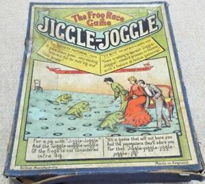 Jiggle Joggle Antique 1905 Frog Racing Parlour Game