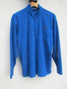 Mens' Blue 'Jack Wolfskin' Fleece Jacket. Three Quarter Zip. Size Medium