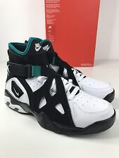 NIKE AIR UNLIMITED BLACK EMERALD WHITE LEATHER MENS HIGH SNEAKERS TRAINERS UK 8