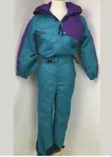 Columbia vintage 80's Ski Suit One Piece Radial Sleeve Epic colors sz Youth M