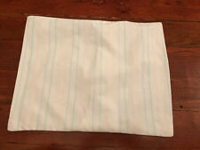 Vintage Baby Crib Pillowcase Pastel Stripes Pink Blue Yellow Green 12.5� x 16�