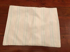"Vintage Baby Crib Pillowcase Pastel Stripes Pink Blue Yellow Green 12.5"" x 16"""