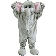 Deluxe Grey Elephant Mascot Coldplay Paradise Celebrity Adults Fancy Dress