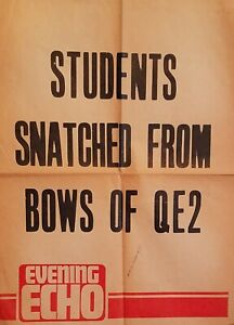 """""""Students Snatched from Bows of QE2!"""" Newsstand Promo- NAUTIQUES sHiPs WORLDWIDE"""