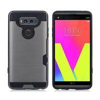 For LG V20 Case Credit Card Slots Holder Hard TPU Hybrid Cover Shockproof ii