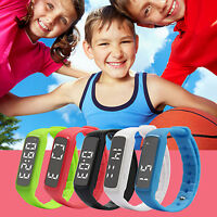 Child Kids Boys Girls Activity Tracker Pedometer Step Counter Fitness Band LED