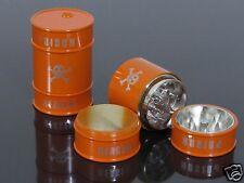 Orange 3 Piece Oil Drum Shape Hand Muller Herb Spice Tobacco Grinder Crusher#897