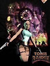 New Tomb Raider Lara Croft Original Sega Saturn PlayStation Game Shirt Sz L Rare