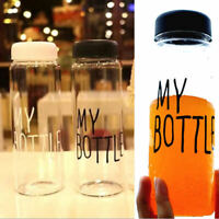 MY BOTTLE Clear Fruit Juice Water Drinking Cup Sports Travel Camp Bottle 500ML