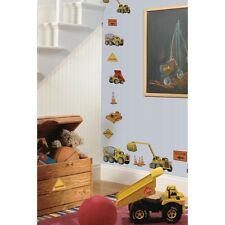 Under CONSTRUCTION 23 BIG Wall Stickers Bedroom Decals Room Decor Trucks Cranes
