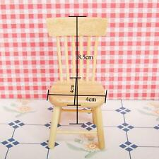 Fancy 1:12 Doll House Minaiture Kitchen Dinning Room Fairy Garden Wood Chair
