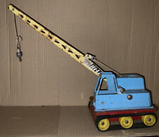 Vintage rare 1960 Tri-ang HI-WAY HI-LIFT Tin Plate Crane Tracks Honest Playworn