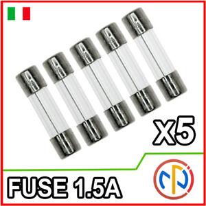 5X FUSIBILI 1.5A 250V fusibile 5x20
