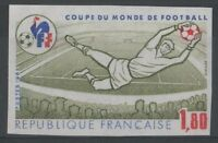 "FRANCE YVERT 2209 SCOTT 1829 "" SOCCER WORLD CUP 1F80 IMPERF 1982 "" MNH VVF M117"