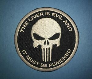 The Punisher Comic Cartoon Iron On Hat Jacket Backpack Hoodie Patch Crest AA