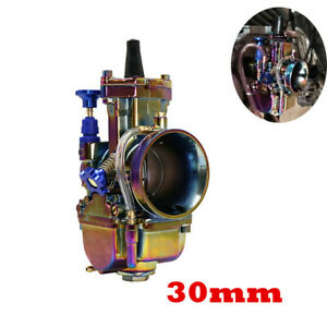 Colorful CNC 30mm Carburetor Carb For 4 stoke 200cc 150cc Dirt Bike ATV Taotao