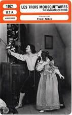 FICHE CINEMA : LES TROIS MOUSQUETAIRES - Menjou,Niblo 1921 Three Musketeers