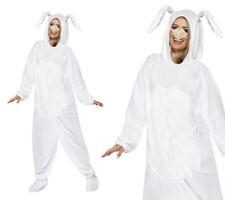 Easter Bunny Costume Adult White Rabbit Fancy Dress Jumpsuit Outfit Unisex