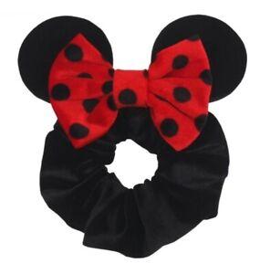 Minnie Ears Velvet Scrunchie Ponytail Holder