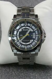 Bulova Precisionist Quartz Champlain Stainless Steel Men's Watch 96B131