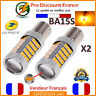 2 x ampoule 63 LED BA15S 1156 P21W ORANGE VOITURE Feux Jour SMD Clignotant