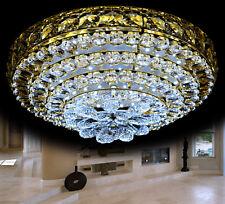 LED Deckenlampe Deckenleuchte Kristallglas Kronleuchter Lüster Leuchte Warm Kalt