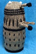 KNITTING PATTERN - Dalek inspired choc orange cover or 18 cms Doctor Who toy