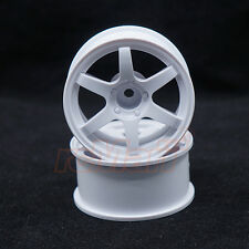 SPICE Mini VOLK Racing TE37 Wheel Offset 2 White M-Chassis 1:10 RC Cars #SPA-212