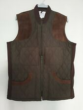 BONART Town & County GILLI Mens Gilet Bodywarmer Suede Leather Patche Size S / M