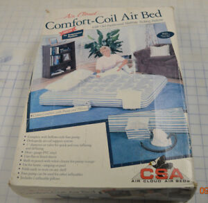 Vintage Air Cloud Comfort-Coil Air Bed - Full Size w/ pump and pillows Ticking