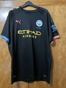Man City 19/20 Away Shirt - Size XL