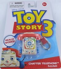 Toy Story Fisher-Price CHATTER TELEPHONE Keychain Keyring Phone Disney T3 NEW