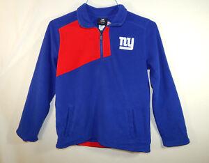 New York Giants NFL Football Fleece Sweater 1/4 Zip Size YOUTH MEDIUM 10 - 12