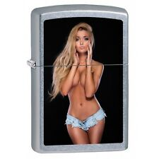 Zippo Lighter Pin-up Girl With Daisy Dukes Street Chrome 78156