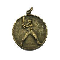 "1973 Vintage Baseball 12 Yr Old Award FOB Medal 1-3/16"" Pendant Original  M8"