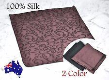 Men's 100% Silk Pocket Square Wedding Formal Hanky Handkerchief Flower Pattern