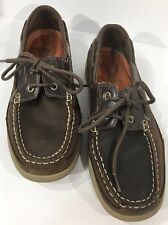 Croft & Barrow Men's Boat Deck Shoes Brown Leather Core Technology Size 9 M